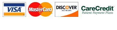 we accept Creditcare, Visa, Mastercard and Discover